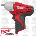 "Milwaukee 2451-20 M12 3/8"" Square Drive Impact Wrench with Ring"