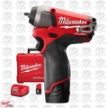 "Milwaukee 2452-22 M12 FUEL 1/4"" Impact Wrench Kit Open Box"