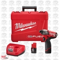 "Milwaukee 2453-22 12 Volt M12 FUEL 1/4"" Hex Impact Driver Kit Open Box"