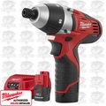 Milwaukee 2455-22 M12 No-Hub Coupling Drill Driver Kit
