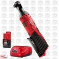 "Milwaukee 2457-20 M12 12V Cordless 3/8"" Ratchet w/ 2.0Ah Battery + Charger"