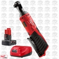 "Milwaukee 2457-20 M12 12V Cordless 3/8"" Ratchet w/ 4.0Ah XC Batt + Charger"