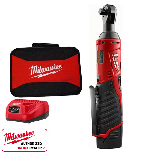 Milwaukee 2457 21 12 Volt M12 Cordless 3 8 Quot Ratchet Kit