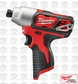 "Milwaukee 2462-20 M12 1/4"" Hex Impact Driver Newest Model Fact. Packed"