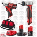 "Milwaukee 2462-20 M12 1/4"" Hex Impact Driver/ProPEX Expansion Tool Kit"
