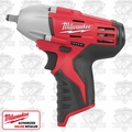 "Milwaukee 2463-20 M12 3/8"" Square Drive Impact Wrench with Ring"