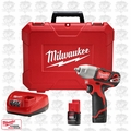 "Milwaukee 2463-22 12 Volt M12 3/8"" Square Drive Impact Wrench w\ Ring"