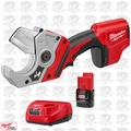 Milwaukee 2470-20 M12 12V Cordless PVC Shear w/ 2.0Ah Battery + Charger