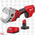Milwaukee 2470-20 M12 12V Cordless PVC Shear w/ 4.0Ah XC Batt + Charger