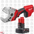 Milwaukee 2470-20 M12 12V Cordless PVC Shear w/ 4.0Ah XC Battery