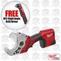 "Milwaukee 2470-21 M12 Cordless PVC Shear Kit + FREE 3/8"" Right Angle Drill"