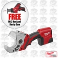 Milwaukee 2470-21 M12 Cordless PVC Shear Kit + FREE M12 Hackzall Recip Saw