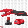 Milwaukee 2471-20-B2 M12 12V Copper Tubing Cutter w/ 4.0Ah XC Batt + Charger