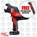 Milwaukee 2472-21XC 600 MCM Cable Cutter Kit + FREE M12 Right Angle Drill