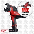 Milwaukee 2472-21XC 600 MCM Cable Cutter Kit + FREE M12 Hackzall Recip Saw