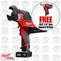 "Milwaukee 2472-21XC 600 MCM Cable Cutter Kit + FREE 1/4"" Hex Impact Driver"