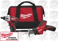 "Milwaukee 2490-22 M12 1/4"" Hex Screwdriver & HACKZALL Combo Kit"