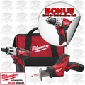 Milwaukee 2490-22P M12 Compact Drill & Hackzall Combo Kit