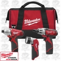 Milwaukee 2490-23 3 Piece Cordless Combo Tool Kit