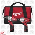 Milwaukee 2494-22 M12 Drill/Impact Combo Kit