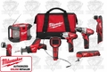 Milwaukee 2495-28 12 Volt M12 8-Piece Cordless Li-Ion Combo Kit