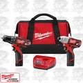 Milwaukee 2497-22 M12 12 Volt Lithium-Ion Cordless Hammer Drill/Impact Combo
