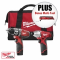 Milwaukee 2497-22 P Hammer Drill, Impact Driver Combo Kit