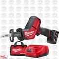 Milwaukee 2520-21XC M12 FUEL HACKZALL Recip Saw w/ 4.0Ah Batt + Charger OB