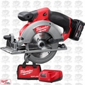 "Milwaukee 2530-21XC M12 FUEL 5-3/8"" Circular Saw + 4Ah XC Batt + Charger OB"