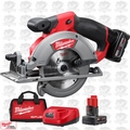 "Milwaukee 2530-21XC M12 FUEL 5-3/8"" Circular Saw w/ TWO BATTS + Charger"