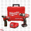 Milwaukee 2594-22 M12 FUEL 2-Tool Drill/Driver & Impact Combo Kit Open Box