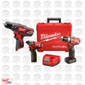 Milwaukee 2597-22 M12 FUEL Hammer Drill Impact 3 Tools Combo Kit Kit
