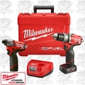 Milwaukee 2597-22 M12 FUEL Hammer Drill Impact Combo Kit