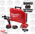 "Milwaukee 2604-22 M18 FUEL 1/2"" Hammer-Drill/Driver Kit + 3rd Batt = 4.0ah"