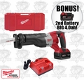 Milwaukee 2620-21 M18 Sawzall Reciprocating Saw Kit + 2nd Batt = 4.0ah
