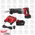Milwaukee 2620-22 M18 Sawzall Reciprocating Saw Kit with 2 Batteries