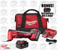 Milwaukee 2626-22 M18 Cordless Li-Ion Multi-Tool Kit + 3rd Batt = 4.0ah