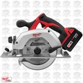 "Milwaukee 2630-22 18 V M18 Li-Ion 6-1/2"" Cordless Circular Saw Kit Open Box"