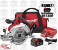 Milwaukee 2630-22 M18 Cordless Circular Saw Kit + 3rd Batt = 4.0ah