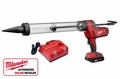 Milwaukee 2643-21CT Clear Barrel Caulk and Adhesive Gun Kit