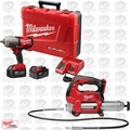 Milwaukee 2646-20 M18 18-Volt Li-Ion Cordless 2-Speed Grease Gun Kit