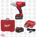 "Milwaukee 2662-22 18V 1/2"" High Torque Impact Wrench Kit w/Detent Pin Kit OB"
