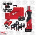 Milwaukee 2673-22 M18 Force Logic Press Tool Kit + 3rd Batt = 4.0ah
