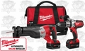 "Milwaukee 2690-22 M18 2 Tool ""Hammer Drill & Sawzall"" Combo Kit"