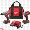 Milwaukee 2691-22 M18 Li-Ion 18V Compact Drill Impact Driver Kit