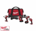 Milwaukee 2692-24 M18 Cordless 4-Tool Combo Kit