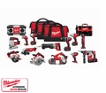 Milwaukee 2696-15 15 Piece Cordless Tool Combo Kit