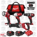 Milwaukee 2696-24-X1 M18 Cordless 4-Tool Combo Kit + 3rd Batt = 4.0ah