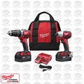 Milwaukee 2697-22 M18 2-Tool Combo Kit XC Batts Hammer & Impact