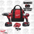 Milwaukee 2697-22 M18 2-Tool Combo Kit + 3rd Batt = 4.0ah
